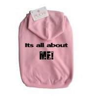 Its all about me hoodie pink Xlarge - cocker size