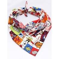 Cartoon dog bandana - Value Size M/L 17-25""