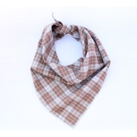 Biscuits Plaid Dog Bandana size S/M