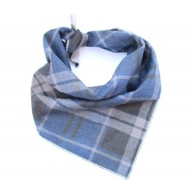 Jersey Navy Blue Plaid Bandana size S/M