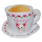 Teacup anyone for afternoon tea - Chihuahua embroidered