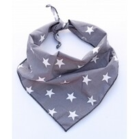 Value range - grey star dog bandana - M/L - neck size 17-25""
