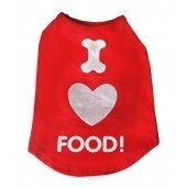 I love food T-Shirt size Large 12""