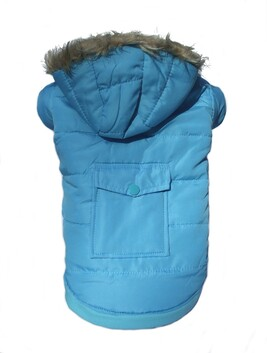 Parker coat blue with pocket and hood