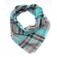 Frayed Buffalo Blue Plaid Bandana - Scamps Small/Medium - Neck Size 9-17""
