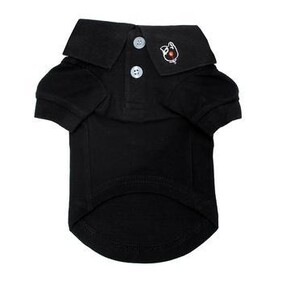 Dog polo shirt Black Size Large